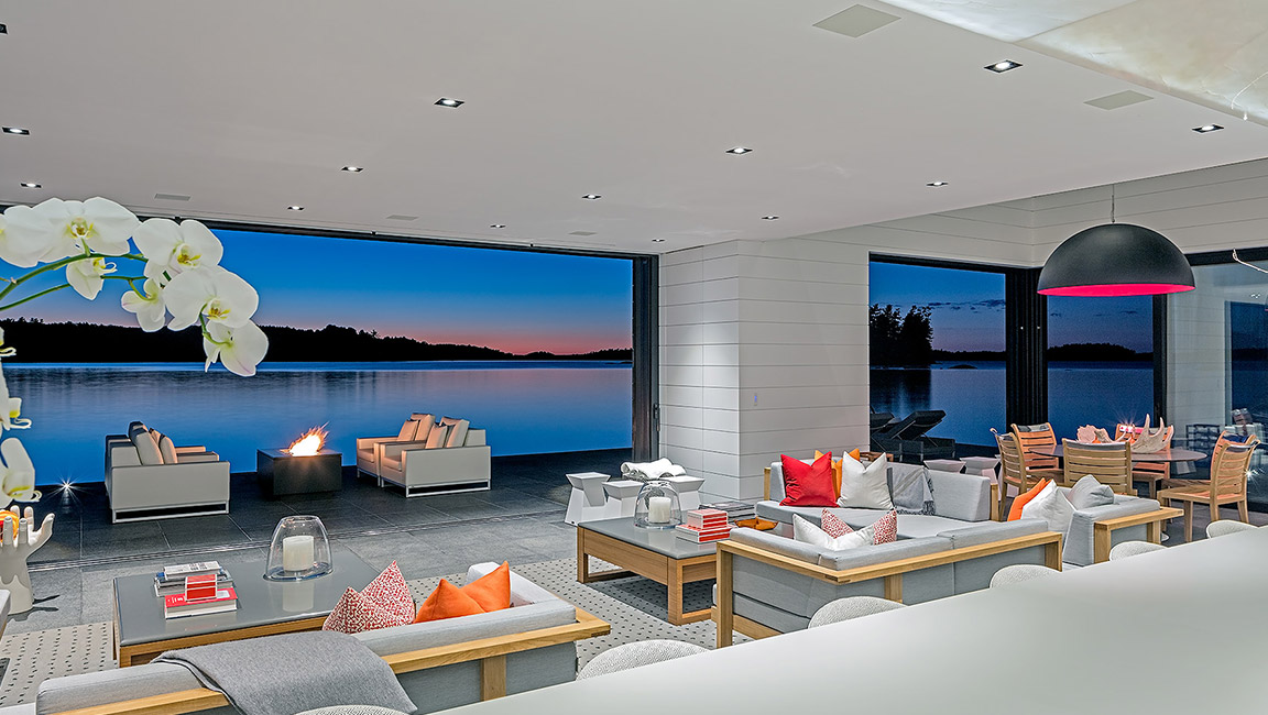 wide living room view