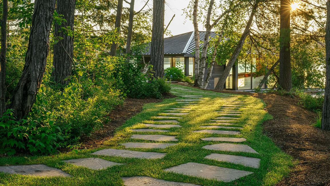 stone slab path